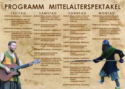Großes Mittelalterspektakel an der Kahlaue: Programmübersicht