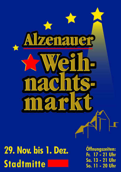 Alzenauer Weihnachtsmarkt vom 29.11.2019 bis 1.12.2019