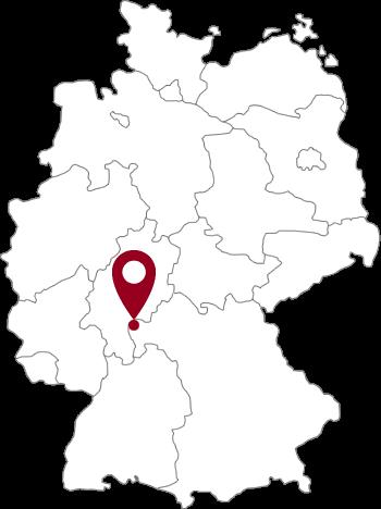 Lage der Stadt Alzenau